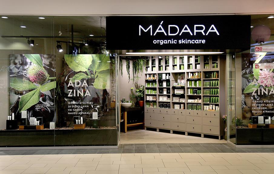 """Atklāts lielākais """"Madara Cosmetics"""" zīmola veikals tirdzniecības parkā """"Alfa"""""""